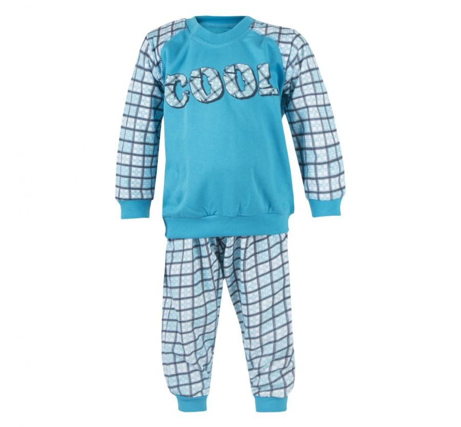 Детская пижама для мальчика, Байка, 80, 86, 92 см Серый, Бирюзовый
