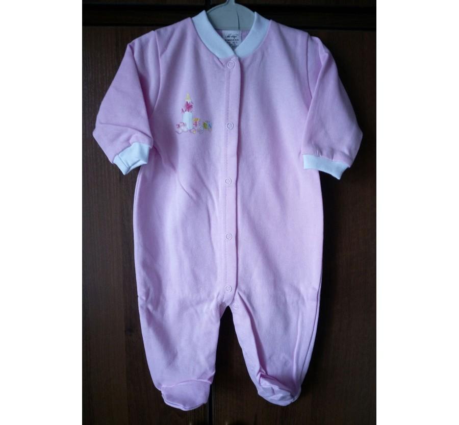 Человечек однотонный ТМ Little angel, Байка, 62 см, Розовый.