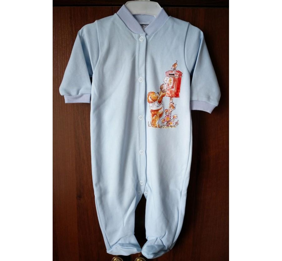 Человечек ТМ Little angel, Интерлок (Трикотаж хлопок 100%), 56 см, Голубой
