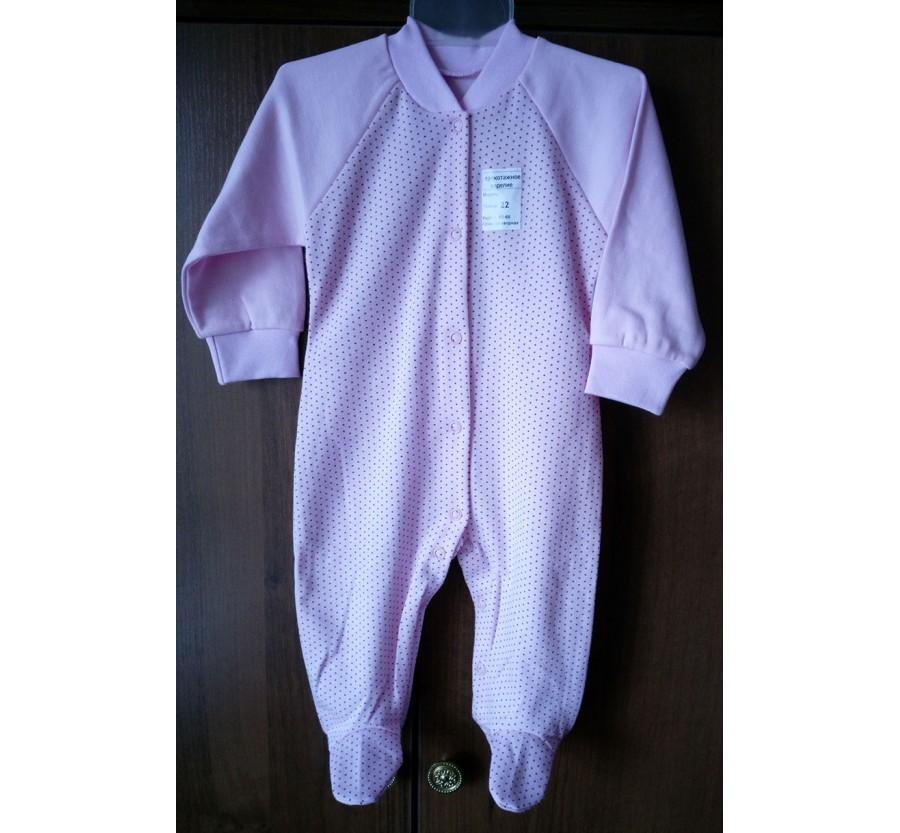 Человечек Интерлок (Трикотаж Хлопок 100%), 62-68 см, Розовый