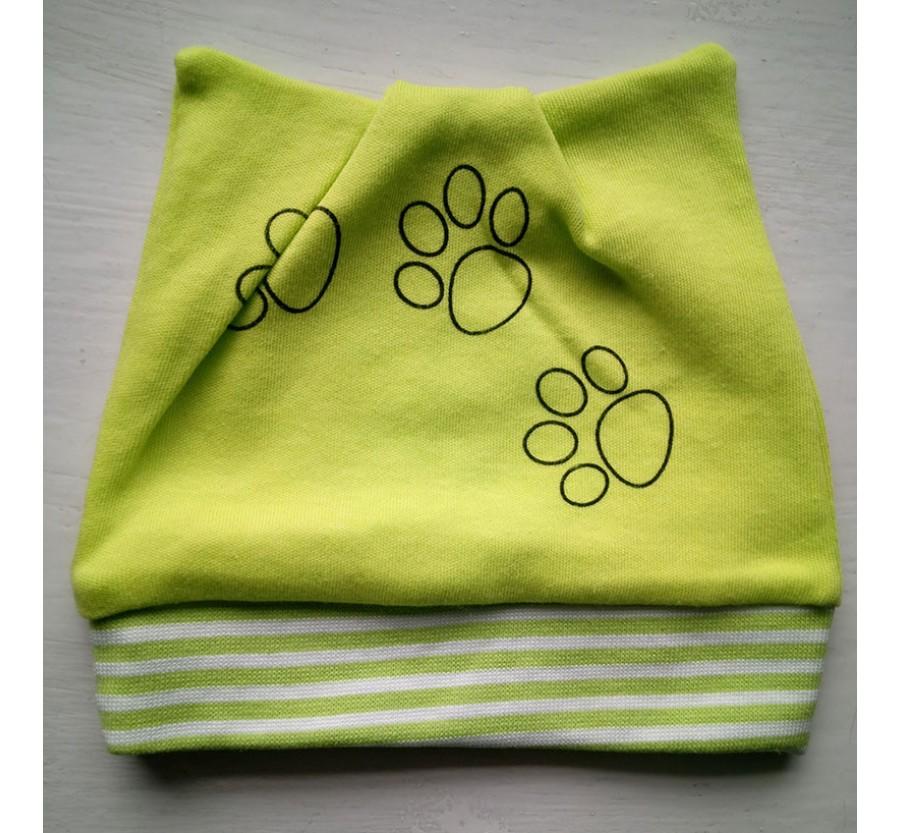 Шапочка для новорождённых,  Интерлок (Трикотаж хлопок 100%), 56 см, цвет Зелёный