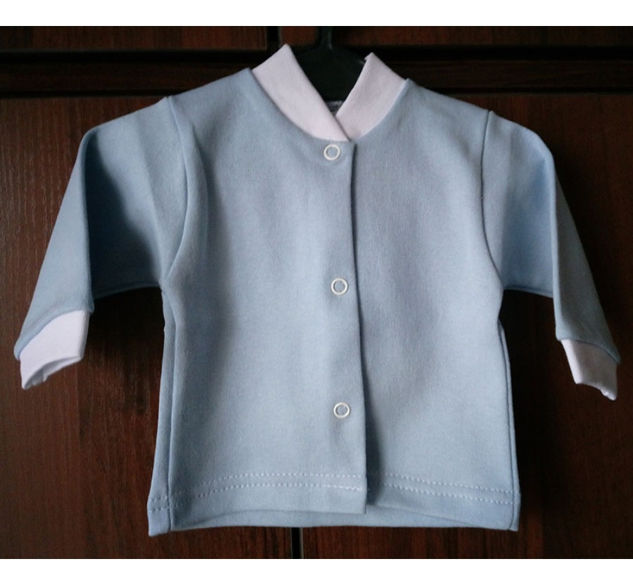 Кофточка однотонная ТМ Little angel, Интерлок (Трикотаж хлопок 100%), 56 см, Голубая