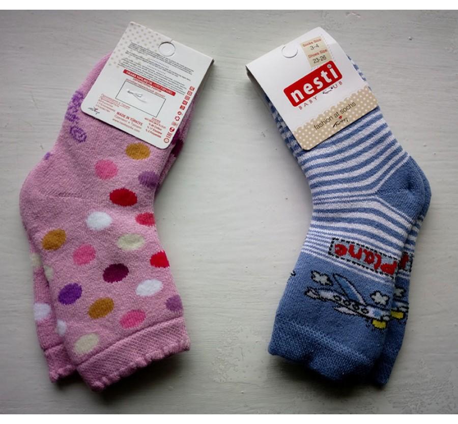 Носки махровые ТМ NESTI (Турция) размер 12 на рост 80 cм (1 год)