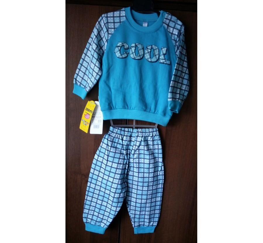 Детская пижама ТМ Габби для мальчика, Байка, 80, 86, 92 см Серый, Бирюзовый