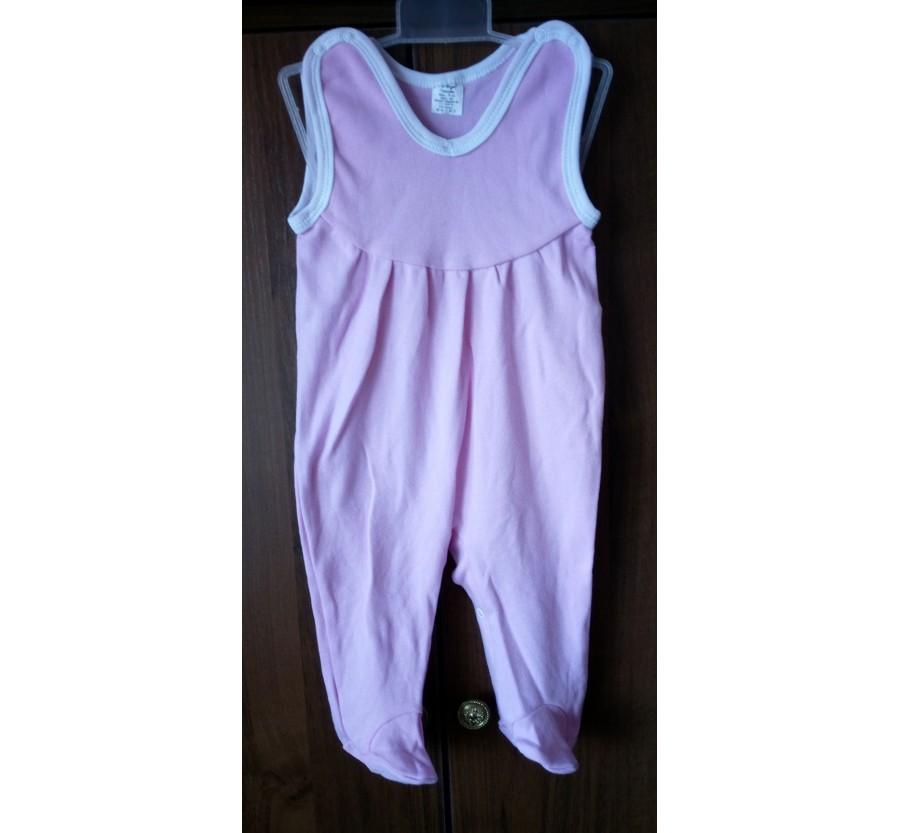 Ползунки высокие ТМ Little angel  на кнопках, Интерлок (Трикотаж хлопок 100%), 56, 68 см, Цвет Голубой, Салатовый, Розовый