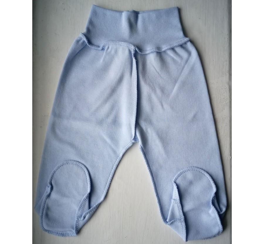 Ползунки Интерлок (Трикотаж хлопок 100%), 56 см, цвет Голубой