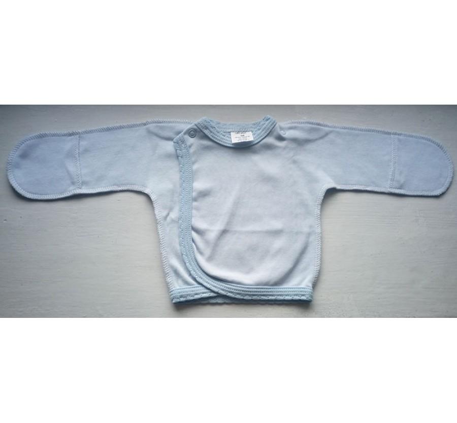 Распашонка ТМ Little angel, утеплённая, на кнопках, Интерлок на байке, 56 см, Голубая