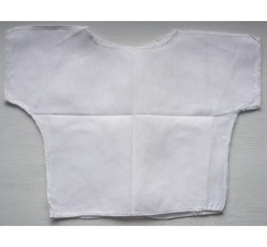Распашонка с коротким рукавом, Ситец ( Хлопок 100%), 56 см, Белая