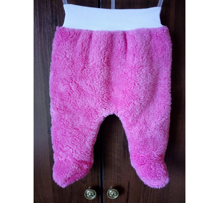 Ползунки ТМ Little angel тёплые, Вельсофт, 56 см, Розовые