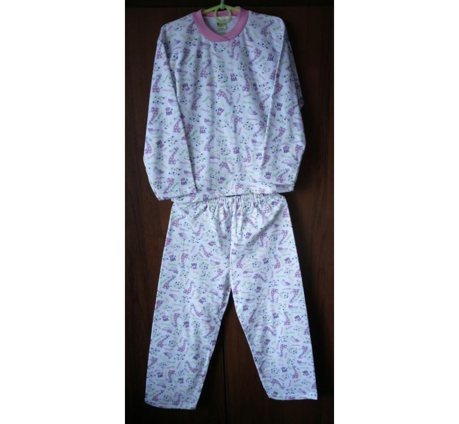 Пижама для девочки, Байка, рост 122 см (6 лет) производство Турция