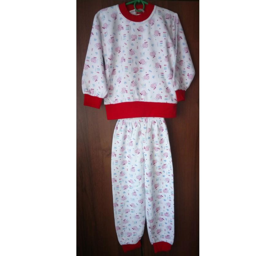 Пижама тёплая для девочки, рост 122 - 128 см, производство Турция