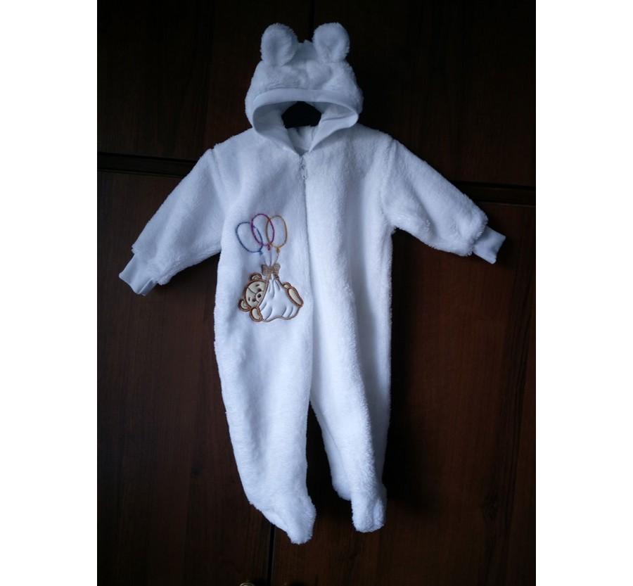 Человечек для новорождённых *Мишка*  Белый 62 см (0-3мес)