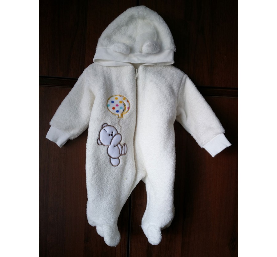 Человечек для новорождённых *Мишка*  Молочный 56-62 см (0-3мес)