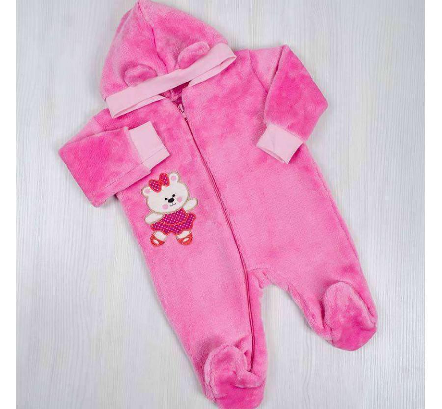 Человечек для новорождённых розовый 56-62 см ( 0-3мес)