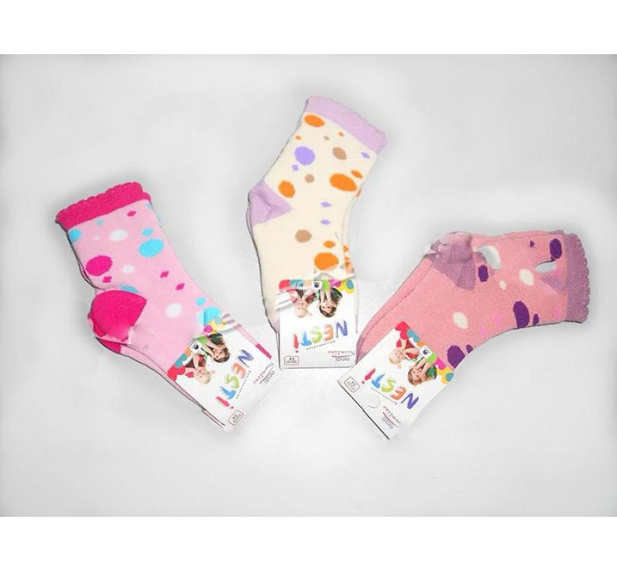 Носки махровые для новорождённых на рост 62 см ( 0-2 мес), 74 см ( полгода ), 80 см ( 1год ), 92 см ( 2 года ) на девочку ТМ NESTI ( Турция )