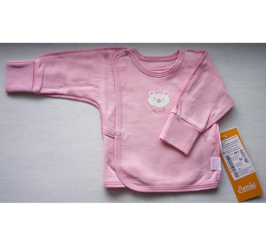 Распашонка Бемби РП7 на кнопках, Байка, 50 (на рост 56см), цвет Розовый