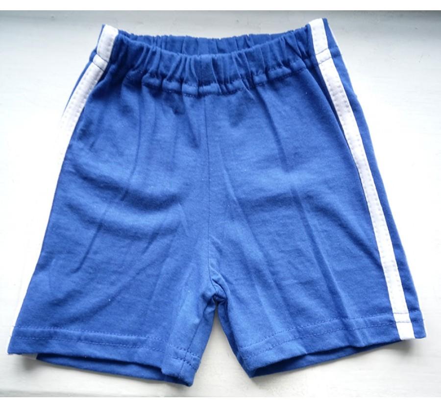 Комплект майка и шорты, Кулир (тонкий Трикотаж хлопок 100%), на рост 80-86 см (1 год), цвет Голубой