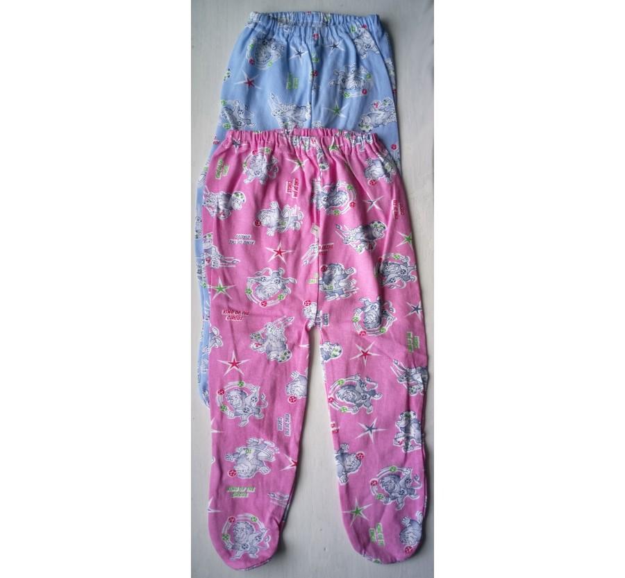 Ползунки на резинке, Кулир (тонкий Трикотаж хлопок 100%), 62 см, цвет Голубой, Розовый