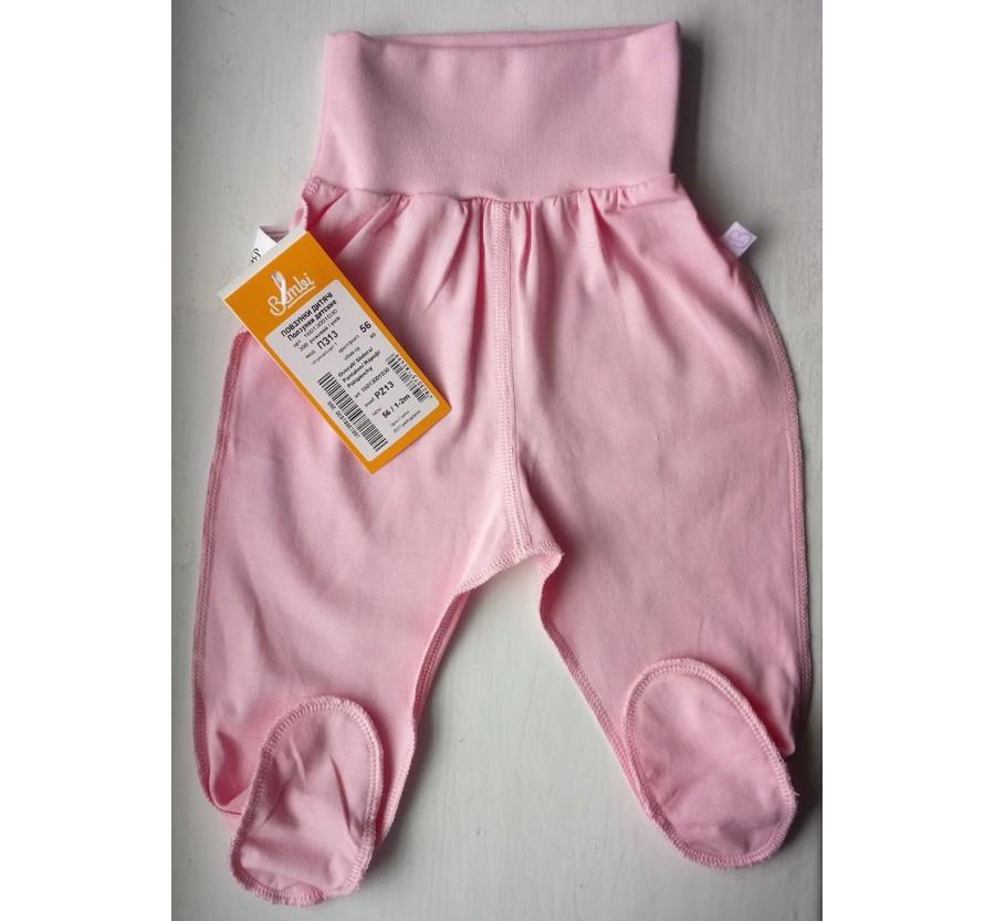 Ползунки Бемби ПЗ13 Супрэм (тонкий Трикотаж хлопок 100%), 56 (на рост 58 см), цвет Розовый