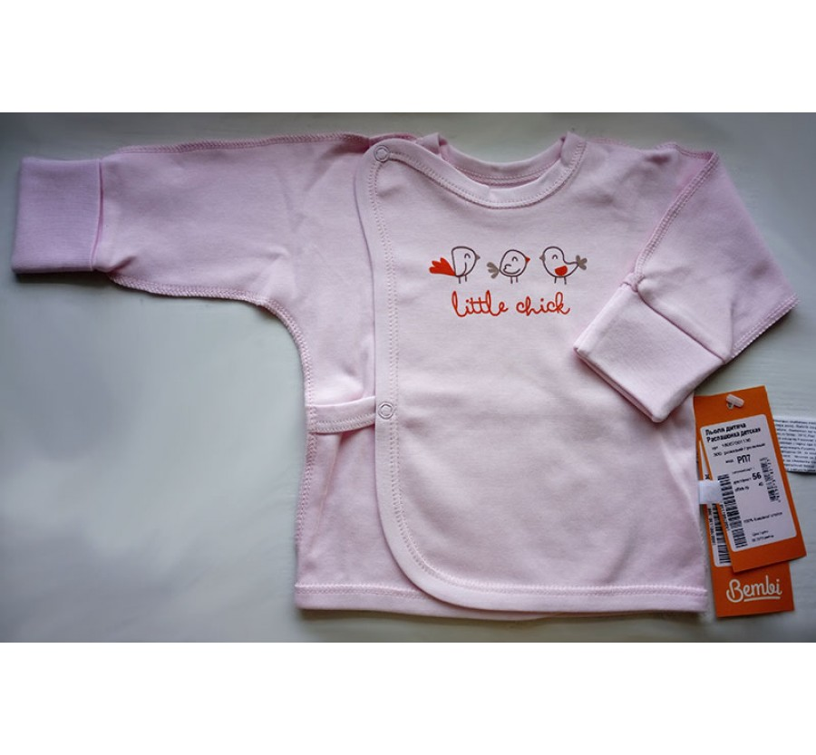 Распашонка Бемби РП7, Интерлок (Трикотаж хлопок 100%), 56 (на рост 58 см), цвет Розовый