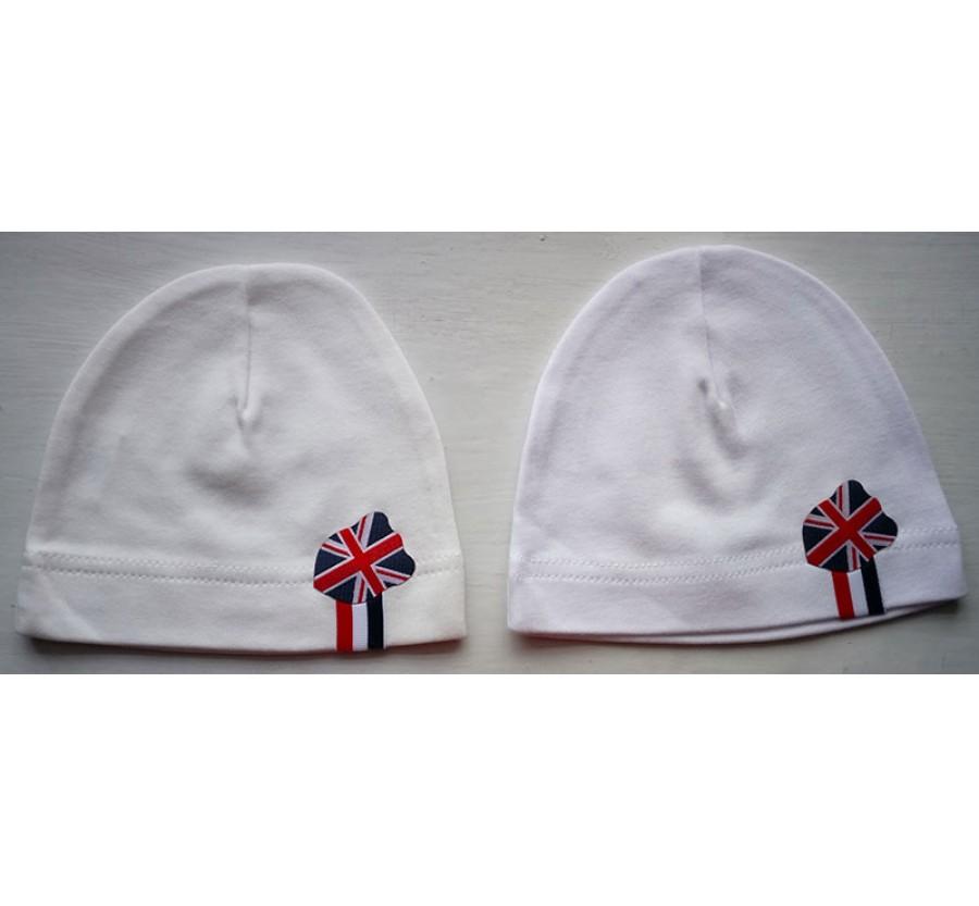 Шапочка без завязочек ТМ Little angel, Интерлок (Трикотаж хлопок 100%), 62 см, цвет Белый, Молочный