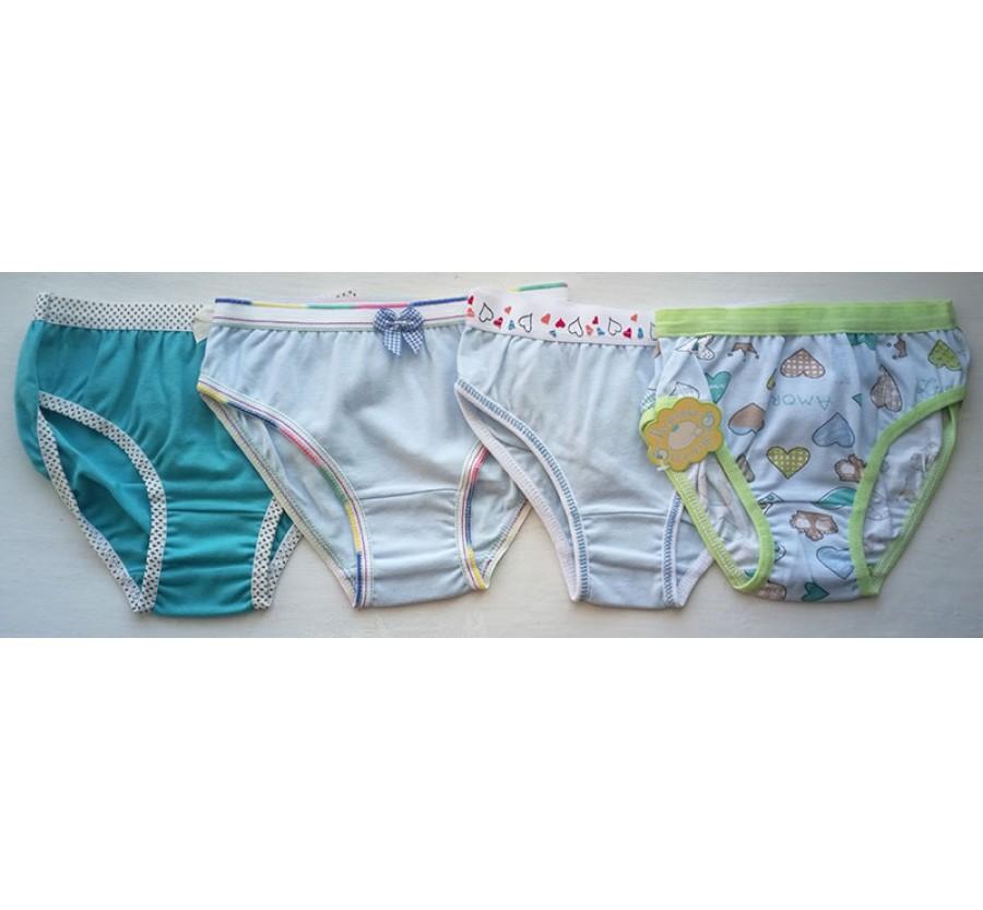 Трусы для девочек размер 26 (на рост 80-86 см), цвет Бирюзовый, Голубой, Голубой с рисунком