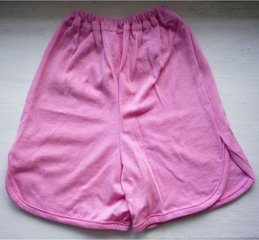 Шорты для девочки, Кулир (тонкий Трикотаж хлопок 100%), размер 30 (3 года), цвет Розовый