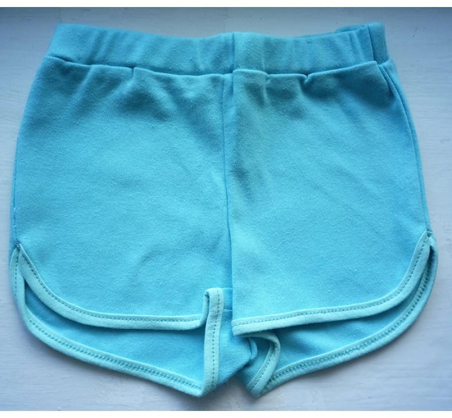 Шорты для девочки, Трикотаж (хлопок 100%), на рост 110 см, цвет Бирюзовый