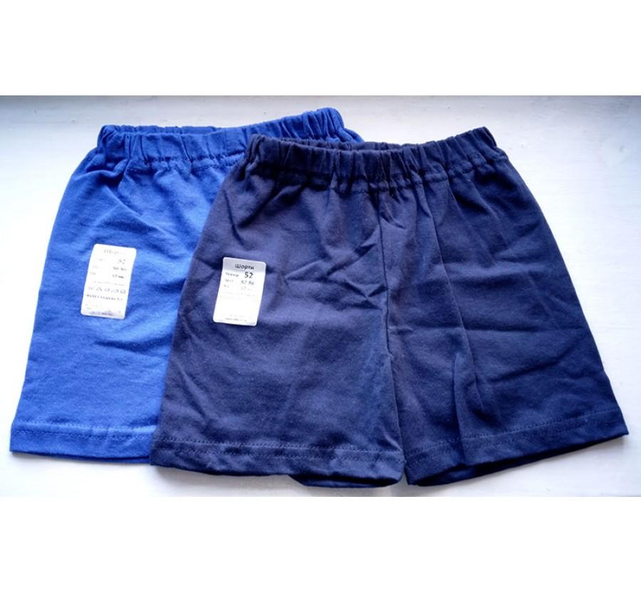 Шорты для мальчика, Кулир (тонкий Трикотаж хлопок 100%), на рост 80-86 см (1 год), цвет Тёмно-синий