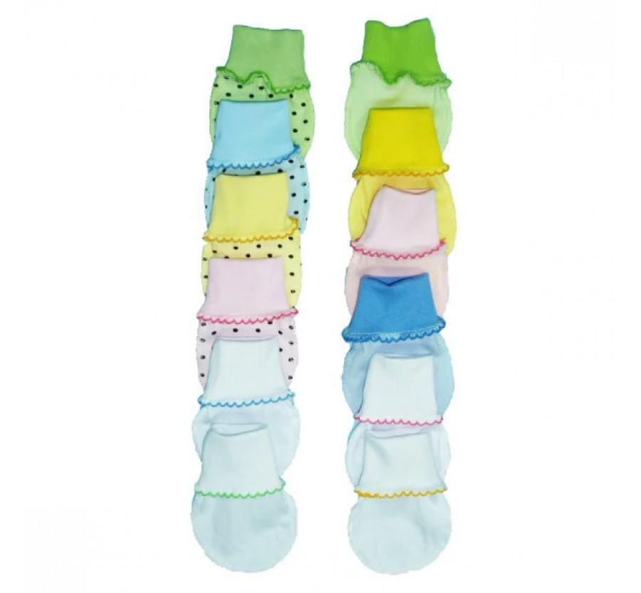 Рукавички / нецарапки трикотажные для новорожденного