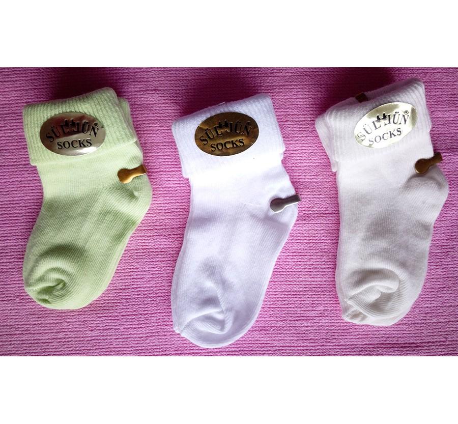 Носки для новорождённых, возраст от 0 до 3 месяцев