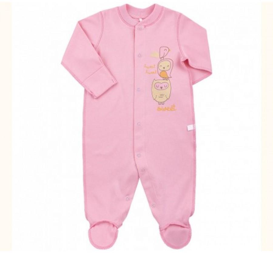 Человечек Бемби КБ4 Интерлок (трикотаж Хлопок 100%) 50, 56, 62 Розовый
